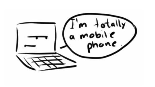 laptop er mobiltelefon